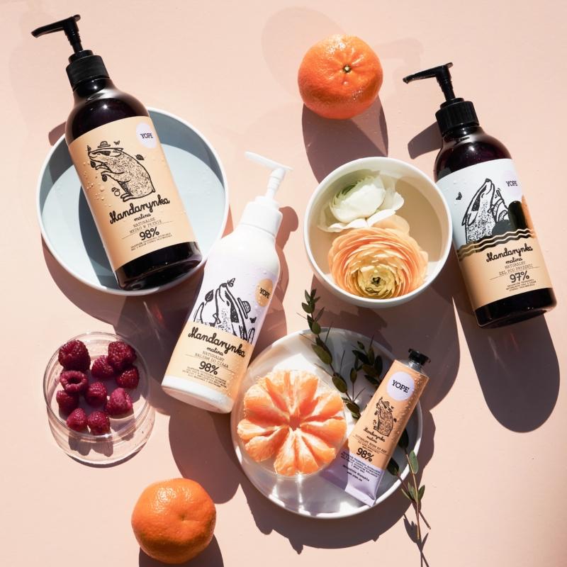 Mandarin és málna természetes kézmosó szappan