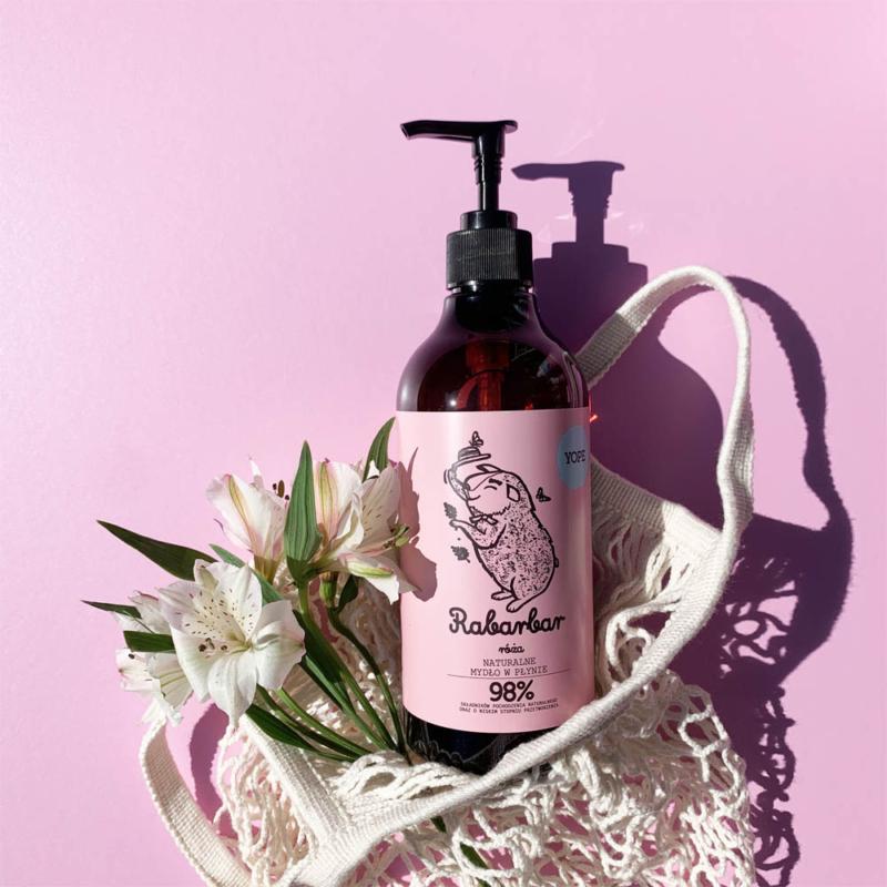 Rebarbara és rózsa természetes kézmosó szappan