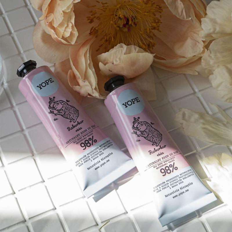 Rebarbara és rózsa természetes kézkrém