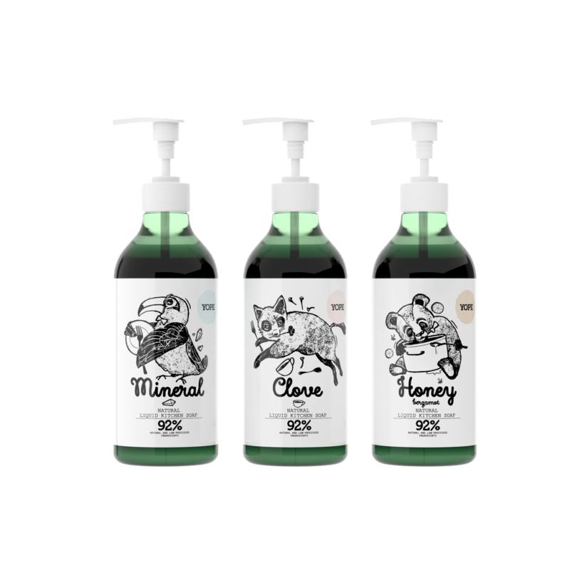 Tiszta ásvány természetes, szagsemlegesítő konyhai szappan