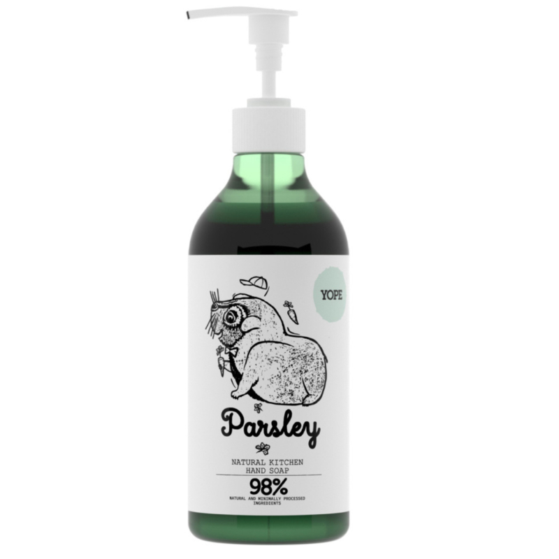 Menta és petrezselyem természetes, szagsemlegesítő konyhai szappan